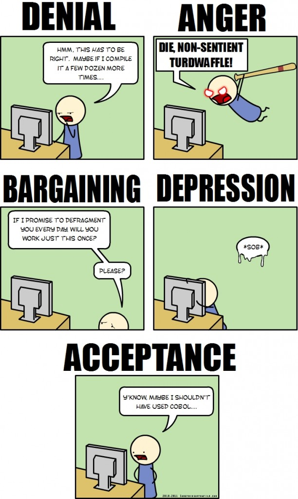 Five Stages of programming grief
